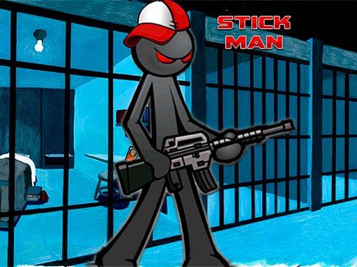 Play Stickman Adventure Prison Jail Break Mission Game