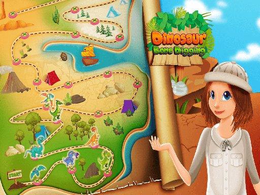 Play Nastya Dinosaur Bone Digging Game