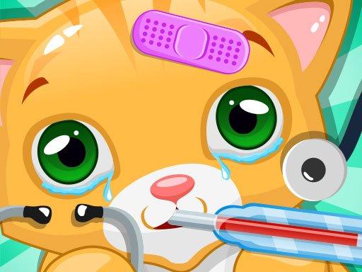 Play Little Cat Doctor Pet Vet Game