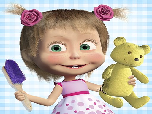 Play Masha and the Bear: House Cleaning Game