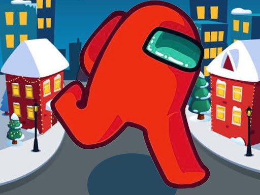 Play Among Us Christmas Run Game