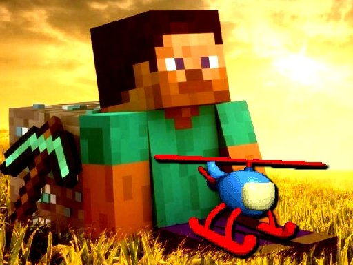 Play Minecraft Helicopter Adventure Game