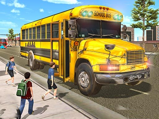 Play Real School Bus Driving Game