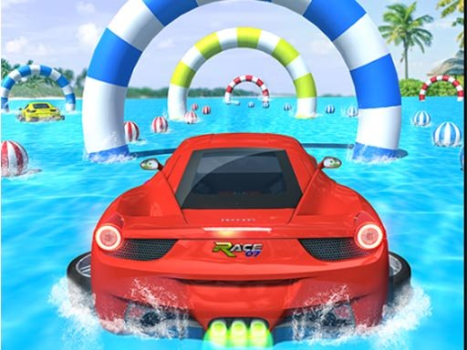 Play Water Surfing Car Stunts Game