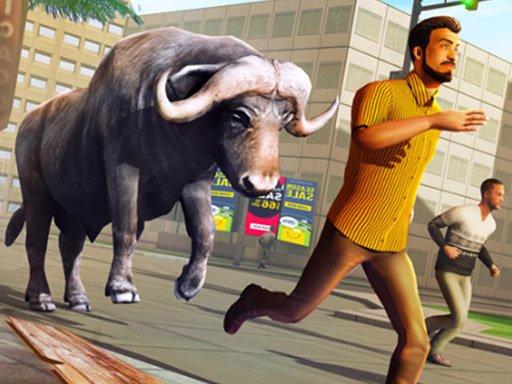 Play Angry Bull Attack Wild Hunt Simulator Game