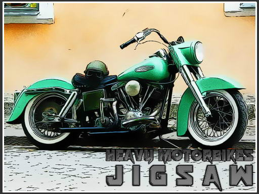 Play Heavy Motorbikes Jigsaw Game