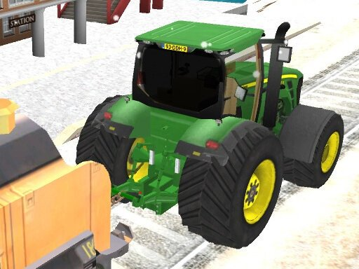 Play Chained Tractor Towing Train Game