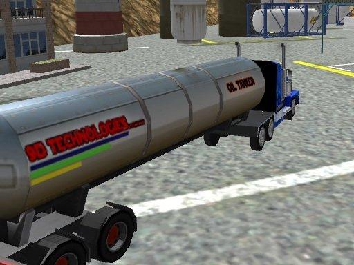 Play Oil Tanker Transporter Truck Game