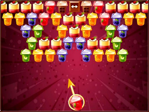 Play Bubble Shooter Puddings Game