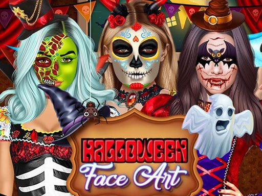 Play Halloween Face Art Game