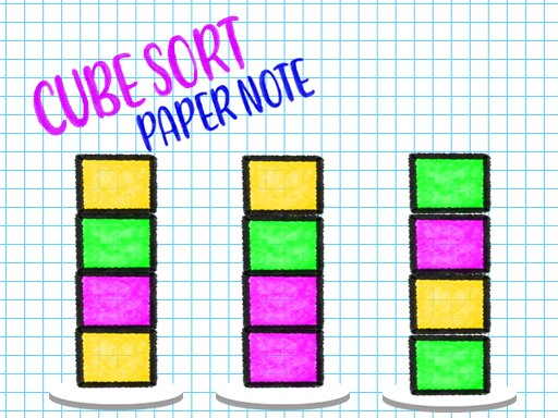 Play Cube Sort: Paper Note Game