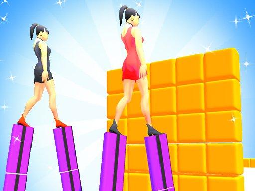 Play Heels Run Race – Stack Rider Game