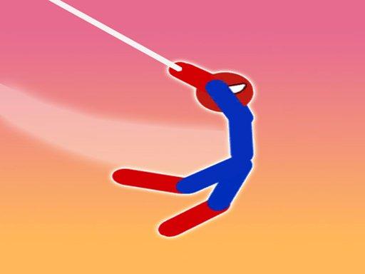 Play Spider Stickman Hook Game