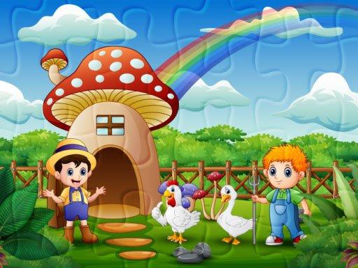 Play Farm Animal Jigsaw Game
