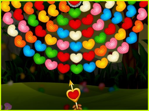 Play Valentines Bubble Wheel Game