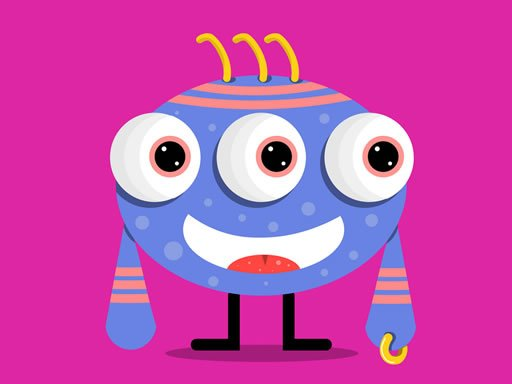 Play Cute Little Monsters Memory Game