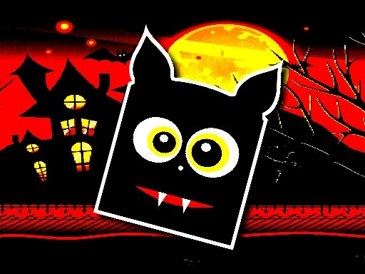 Play Halloween Geometry Dash Game