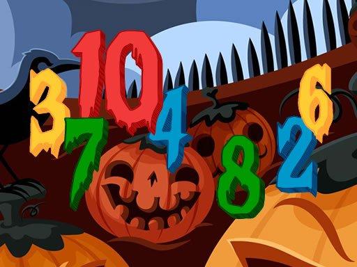 Play Halloween Hidden Numbers Game