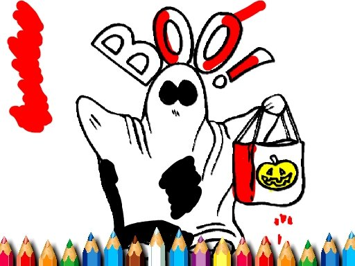Play Scary Halloween Coloring Game