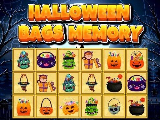 Play Halloween Bags Memory Game
