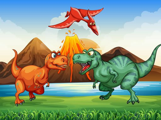 Play Colorful Dinosaurs Match 3 Game