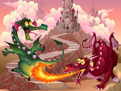 Play Fairy Tale Dragons Memory Game