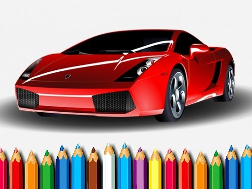 Play Racing Cars Coloring Game