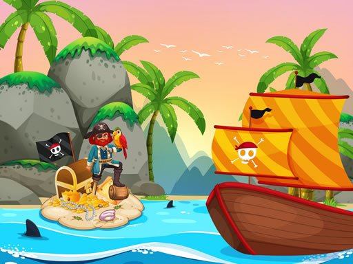 Play Pirate Travel Coloring Game