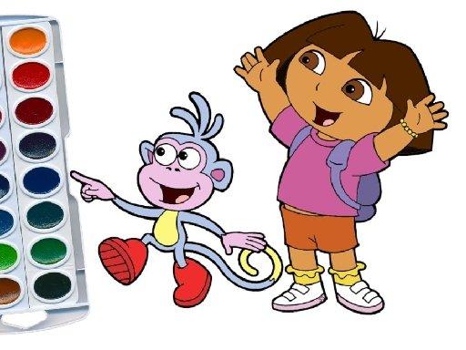 Play Dora The Explorer Coloring Game