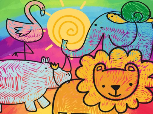 Play Little Animals Coloring Game