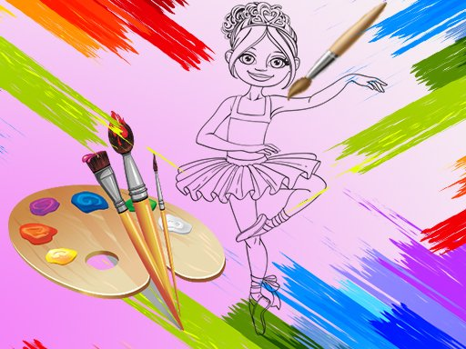 Play Little Ballerinas Coloring Game