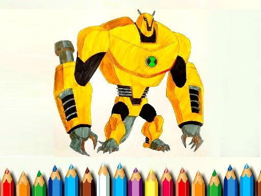 Play Ben 10 Monsters Coloring Game