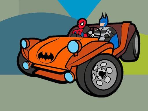 Play Superhero Cars Coloring Game