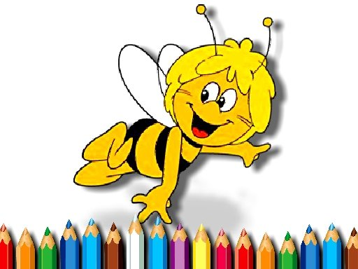 Play Maja the Bee Coloring Game