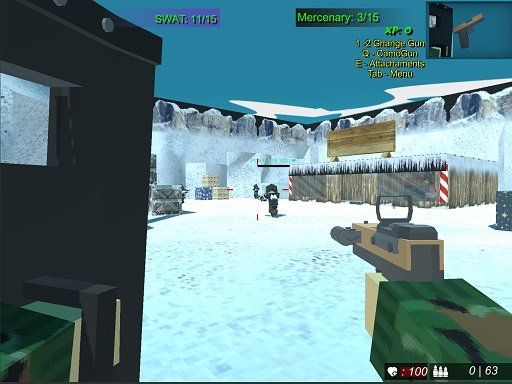 Play Blocky Combat Swat 2 Game