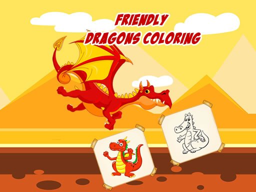 Play Friendly Dragons Coloring Game