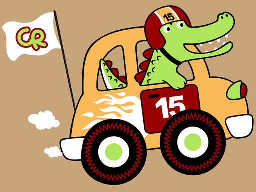 Play Fast Racing Cars Coloring Game