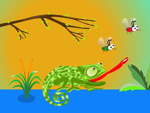 Play Hungry Chameleon Game