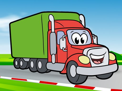Play Happy Trucks Coloring Game
