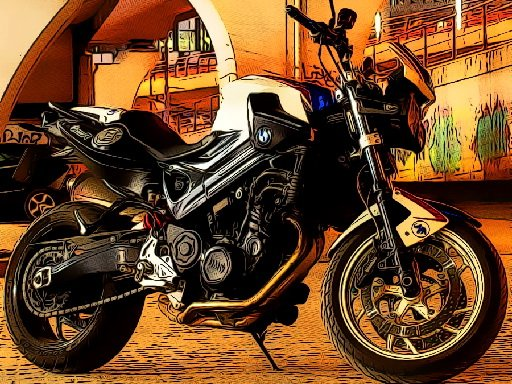 Play Fast Motorbikes Jigsaw Game