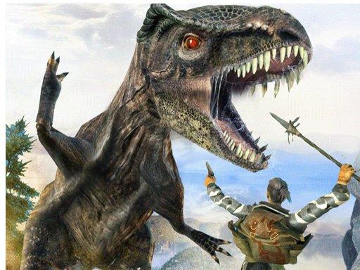 Play Dinosaur Hunting & Attack Jigsaw Game