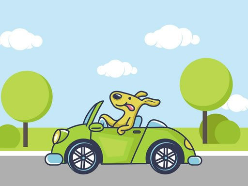 Play Animal Happy Drive Coloring Game