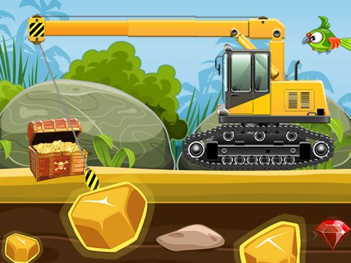 Play Gold Truck Crane Game