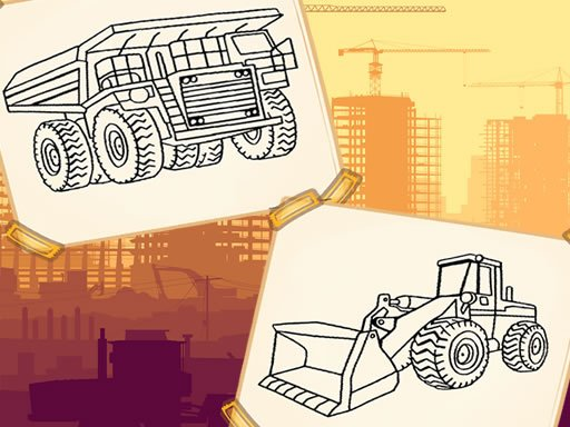 Play Construction Trucks Coloring Game
