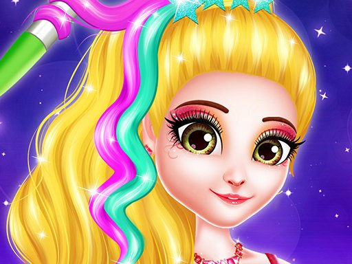 Play Hair Saloon Color by Number Game