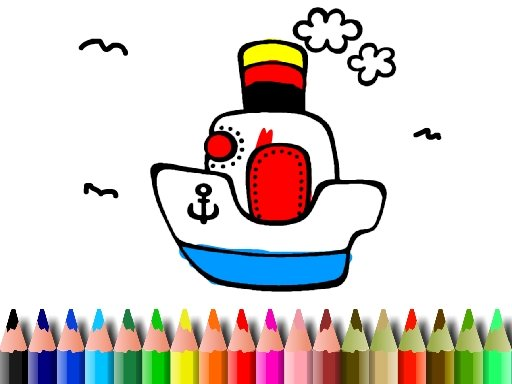 Play BTS Boat Coloring Game