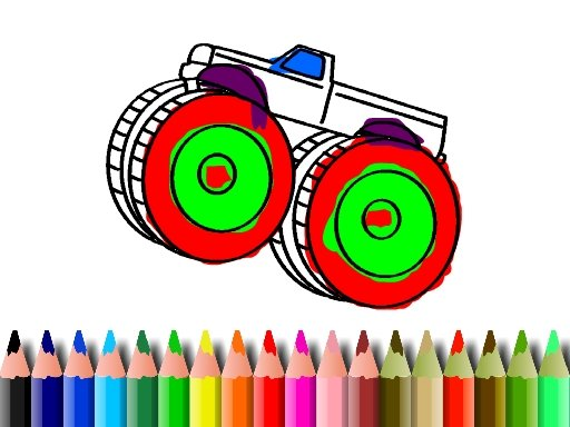 Play BTS Monster Truck Coloring Game