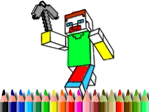 Play BTS Minecraft Coloring Game