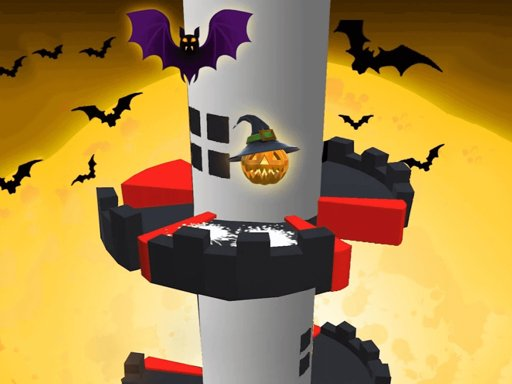 Play Helix Jump Halloween Game