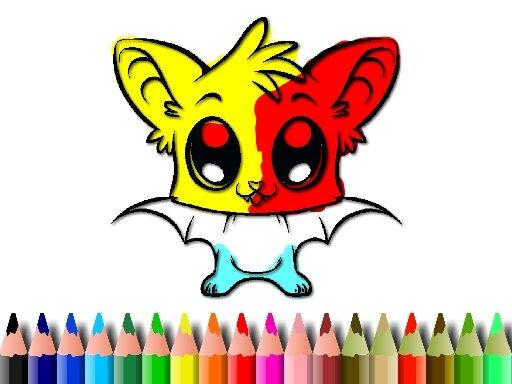 Play Cute Bat Coloring Game
